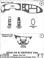 2003 Ford E-Series Van Dash Kit Shadow Sheet
