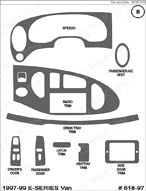 1999 Ford E-Series Van Dash Kit Shadow Sheet