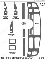 1994 Ford E-Series Van Dash Kit Shadow Sheet