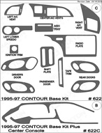 1997 Ford Contour Dash Kit Shadow Sheet