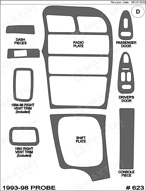 1997 Ford Probe Dash Kit Shadow Sheet