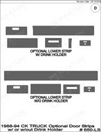 1993 Chevrolet C/K Truck Dash Kit Shadow Sheet
