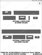 1989 Chevrolet Suburban Dash Kit Shadow Sheet