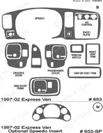 1998 Chevrolet Express Van Dash Kit Shadow Sheet