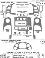 2000 Chevrolet Astro Van Dash Kit Shadow Sheet