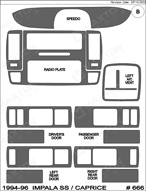 1994 Chevrolet Impala Dash Kit Shadow Sheet