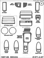 1997 Saturn SL Dash Kit Shadow Sheet