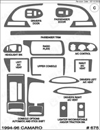 1995 Chevrolet Camaro Dash Kit Shadow Sheet