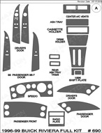 1998 Buick Riviera Dash Kit Shadow Sheet