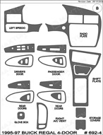 1997 Buick Regal Dash Kit Shadow Sheet