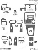 2000 Mazda 626 Dash Kit Shadow Sheet