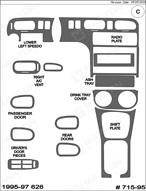 1995 Mazda 626 Dash Kit Shadow Sheet