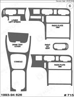 1993 Mazda 626 Dash Kit Shadow Sheet