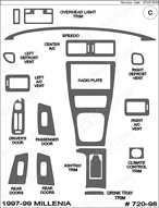 1998 Mazda Millenia Dash Kit Shadow Sheet