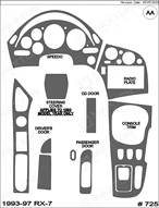 1995 Mazda RX-7 Dash Kit Shadow Sheet