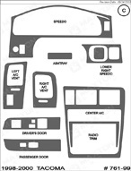 1999 Toyota Tacoma Dash Kit Shadow Sheet