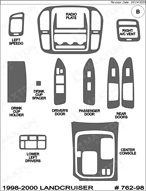 1999 Toyota Landcruiser Dash Kit Shadow Sheet