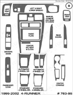 1999 Toyota 4-Runner Dash Kit Shadow Sheet