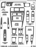 1997 Toyota 4-Runner Dash Kit Shadow Sheet