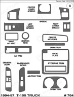 1994 Toyota T-100 Truck Dash Kit Shadow Sheet