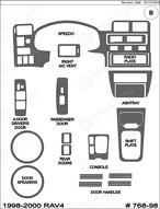 1999 Toyota Rav4 Dash Kit Shadow Sheet