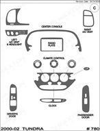 2000 Toyota Tundra Dash Kit Shadow Sheet