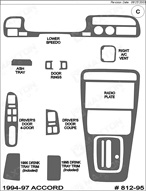 1997 Honda Accord Dash Kit Shadow Sheet