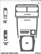 1996 Honda Prelude Dash Kit Shadow Sheet
