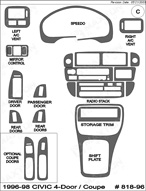 1996 Honda Civic Dash Kit Shadow Sheet