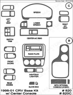 2001 Honda CRV Dash Kit Shadow Sheet