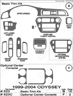 2003 Honda Odyssey Dash Kit Shadow Sheet