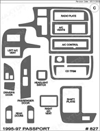 1995 Honda Passport Dash Kit Shadow Sheet