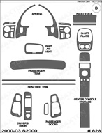 2000 Honda S2000 Dash Kit Shadow Sheet