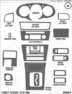 1998 Acura RL Dash Kit Shadow Sheet