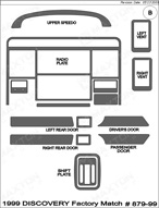 1999 Land Rover Discovery Dash Kit Shadow Sheet