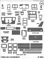 1998 Hummer H1 Dash Kit Shadow Sheet