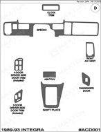 1989 Acura Integra Dash Kit Shadow Sheet