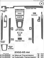 2002 Audi A4 Dash Kit Shadow Sheet