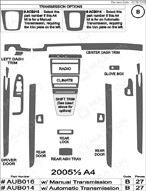 2006 Audi A4 Dash Kit Shadow Sheet