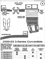 2000 BMW 3-Series Dash Kit Shadow Sheet