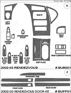 2002 Buick Rendezvous Dash Kit Shadow Sheet