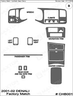 2001 GMC Yukon_Denali Dash Kit Shadow Sheet