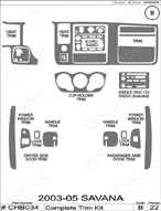 2005 GMC Savana Dash Kit Shadow Sheet