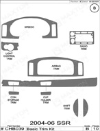2006 Chevrolet SSR Dash Kit Shadow Sheet