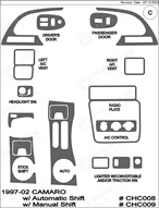 1998 Chevrolet Camaro Dash Kit Shadow Sheet