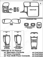 1998 Chevrolet S-10 Dash Kit Shadow Sheet