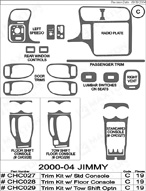2005 GMC Jimmy Dash Kit Shadow Sheet