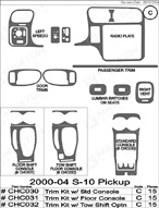 2002 Chevrolet S-10 Dash Kit Shadow Sheet
