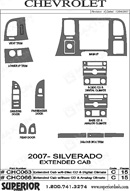 2007 Chevrolet Silverado Dash Kit Shadow Sheet
