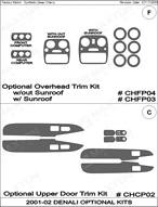 2002 GMC Yukon_Denali Dash Kit Shadow Sheet